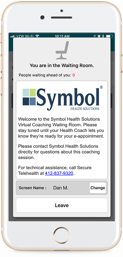 Symbol Virtual Coaching App Phone